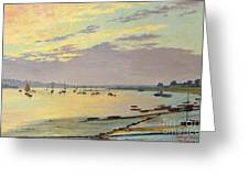 Low Tide Greeting Card by W Savage Cooper