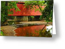 Loys Station Bridge. Thurmont Maryland Greeting Card by Matthew Saindon