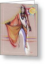 Lpr Black Woman Greeting Card by Anthony Burks Sr