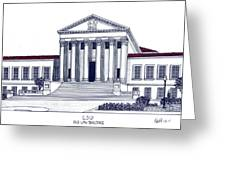 Lsu Old Law Building Greeting Card by Frederic Kohli
