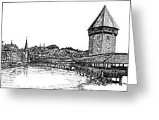 Lucerne Greeting Card by Frank SantAgata