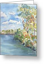 Lucien Lake Shoreline Greeting Card by Pat Katz