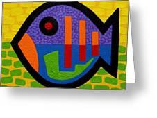 Lucky Fish II  Greeting Card by John  Nolan