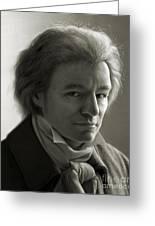 Ludwig Van Beethoven Greeting Card by Dirk Dzimirsky