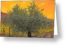 L'ulivo Tra Le Vigne Greeting Card by Guido Borelli