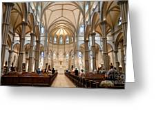 Lunchtime Mass At Saint Paul Cathedral Pittsburgh Pa Greeting Card by Amy Cicconi