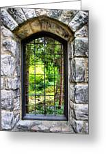 Lushness Beyond The Walls Greeting Card by Kristin Elmquist