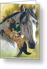 Lusitano Greeting Card by Barbara Keith