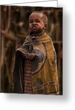 Maasai Boy Greeting Card by Adam Romanowicz