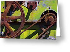 Machinery gears  Greeting Card by Garry Gay