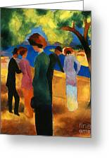 Macke: Green Jacket, 1913 Greeting Card by Granger