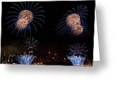 Macy's Fireworks IIi Greeting Card by David Hahn