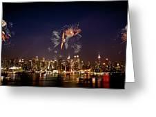Macy's Fireworks Iv Greeting Card by David Hahn
