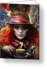 Mad As A Hatter Greeting Card by Omri Koresh