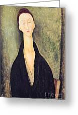 Madame Hanka Zborowska Greeting Card by Amedeo Modigliani
