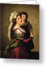 Madame Rousseau And Her Daughter Greeting Card by Elisabeth Louise Vigee Lebrun