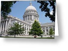Madison Wi State Capitol Greeting Card by Anita Burgermeister