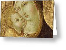 Madonna and Child Greeting Card by Ansano di Pietro di Mencio