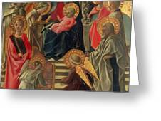 Madonna and Child enthroned with Angels and Saints Greeting Card by Fra Filippo Lippi