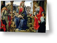 Madonna and Child Greeting Card by Filippino Lippi