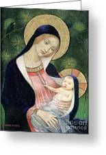 Madonna Of The Fir Tree Greeting Card by Marianne Stokes