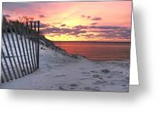 Magenta Sunrise Greeting Card by Vicki Jauron
