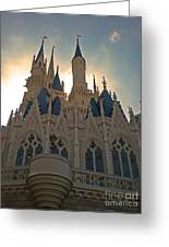 Magic Kingdom - Cinderella Castle Greeting Card by AK Photography