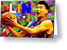 Magical Jeremy Lin Greeting Card by Paul Van Scott