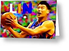 Magical Jeremy Lin Greeting Card by Paul Van Scott