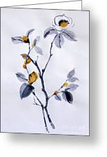 Magnolia Greeting Card by Sibby S