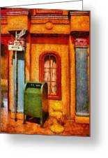 Mailman - No Parking Greeting Card by Mike Savad
