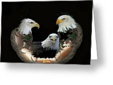 Majestic Eagles Greeting Card by Julie  Grace