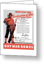 Make Your Own Declaration Of War Greeting Card by War Is Hell Store