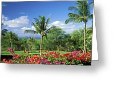 Makena Beach Golf Course Greeting Card by Peter French - Printscapes