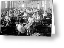 Making Money At The Bureau Of Printing And Engraving - Washington Dc - C 1916 Greeting Card by International  Images
