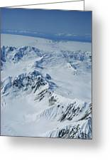 Malaspina Glacier Greeting Card by Joseph Rychetnik