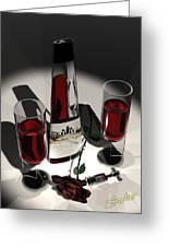 Malbec Wine - Romance Expectations Greeting Card by Stuart Stone