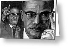 Malcolm X Greeting Card by Gil Fong