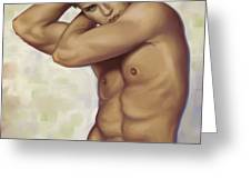 Male Nude 1 Greeting Card by Simon Sturge