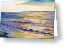 malibu sunset Greeting Card by Jenn Cunningham