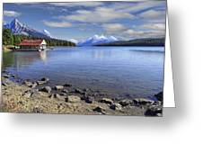Maligne Lake -- Jasper Alberta Canada Greeting Card by Daniel Hagerman