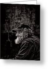 Man With A Beard Greeting Card by Bob Orsillo