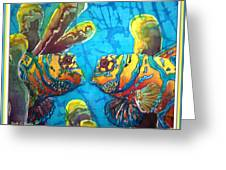 Mandarinfish- Bordered Greeting Card by Sue Duda