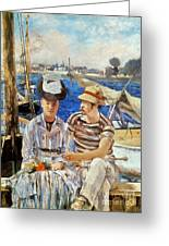 Manet: Boaters, 1874 Greeting Card by Granger
