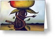 Mango Tree AKA Senor Mango Greeting Card by Leah Saulnier The Painting Maniac