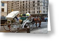 Manhattan Buggy Ride Greeting Card by Madeline Ellis