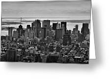 Manhattan Cityscape Greeting Card by Andreas Freund