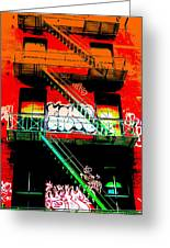 Manhattan Fire Escape Greeting Card by Funkpix Photo Hunter