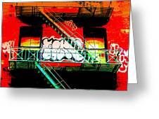Manhattan Fire Escape Greeting Card by Funkpix Photo Hunter