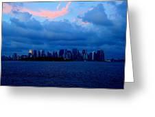 Manhattan Skyline Greeting Card by Fareeha Khawaja